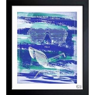 'Shutter Shade Glasses 2009' Framed Blueprint Art
