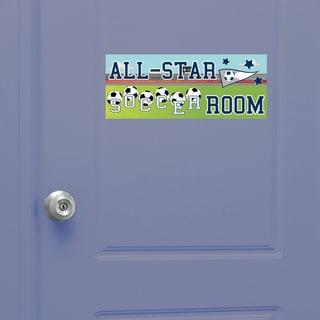 Soccer Boy Door Sign Peel and Stick