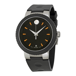 Movado Sport Edge Black Dial Rubber Strap Men's Watch 0606926