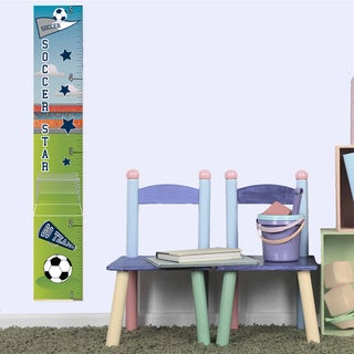 Soccer Boy Growth Chart Peel and Stick