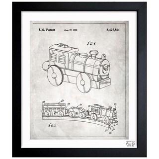 Oliver Gal 'Toy Train, 1995' Framed Blueprint Art