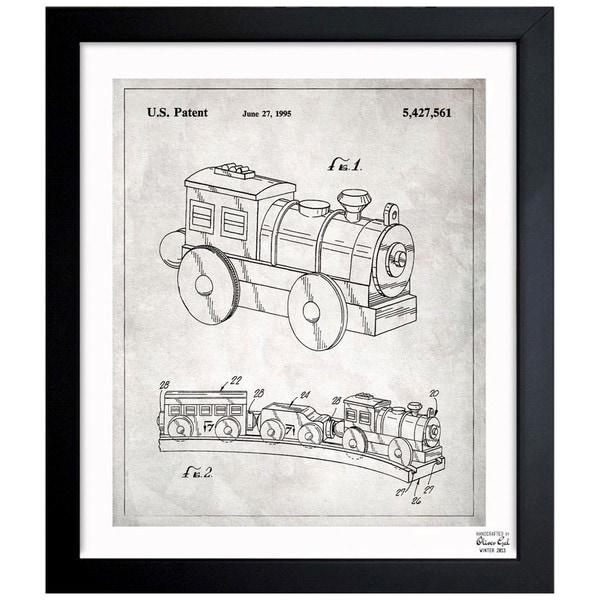 Oliver gal toy train 1995 framed blueprint art free shipping oliver gal x27toy train 1995x27 framed blueprint art malvernweather Choice Image