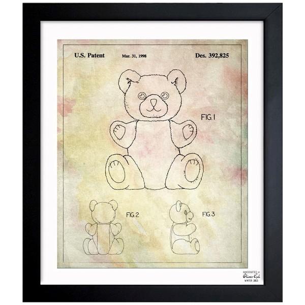 Shop oliver gal teddy bear 1998 framed blueprint art on sale oliver gal x27teddy bear 1998x27 framed blueprint art malvernweather Gallery