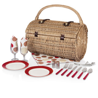 Picnic Time Moka Collection Barrel Picnic Basket