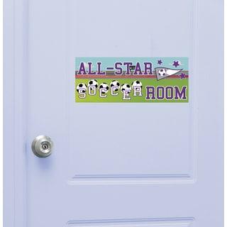 Soccer Girl Door Sign Peel and Stick