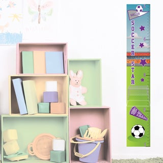Soccer Girl Growth Chart Peel and Stick