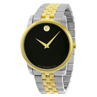 Movado Museum Black Dial Two-tone Men's Watch 0606899
