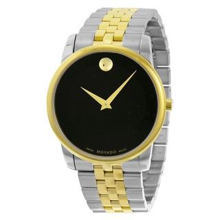 Movado Museum Black Dial Two-tone Men's Watch 0606899