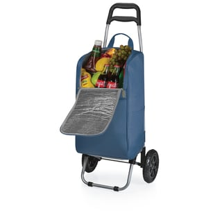 Picnic Time Navy Cart Cooler with Trolley