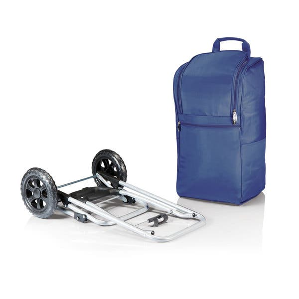 ONIVA Navy a Picnic Time Brand Insulated Cart Cooler with Wheeled Trolley