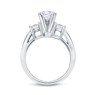 Auriya 14k Gold 4ct TDW Certified Princess-cut Diamond 3-Piece Bridal Ring Set (I-J, SI2-SI3)