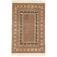 Hand Knotted Flat Weave Rug - 4' x 6'