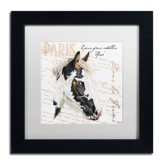 Jennifer Redstreake 'Dans la Ferme Horse' Matted Framed Art