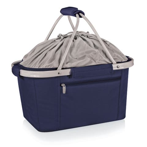 Picnic Time Metro Basket Navy Collapsible Tote