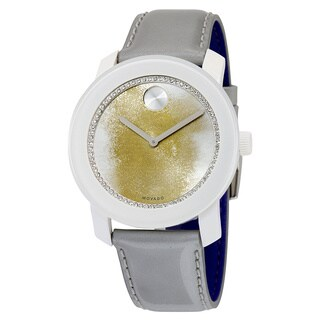 Movado Women's Bold 3600266 Silver Leather Swiss Quartz Watch