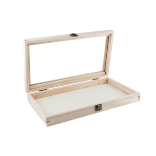 Caddy Bay Collection Wood Jewelry Ring Display Case Includes 2 Free Inserts--1x 72 Ring Foam Pad, 1x Thick Linen Liner