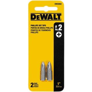 """Dewalt DW2002 1"""" #2 Phillips Power Bits 2-count"""