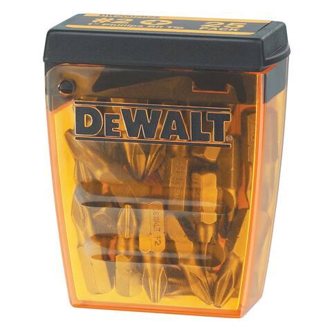 """Dewalt DW2002B25 #2 1"""" Phillips Bit Tip 25 Piece Set"""