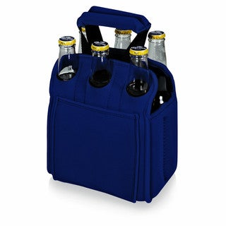 Picnic Time Navy Six Pack Beverage Carrier