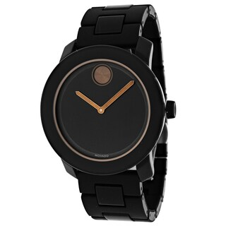 Movado Men's 3600315 Bold Round Black Stainless Steel Bracelet Watch