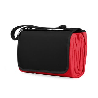 Picnic Time Red Black Blanket Tote