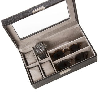 Watch Accessory Box with Glass Top