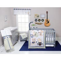 Trend Lab Safari Rock Band 6-piece Crib Bedding Set
