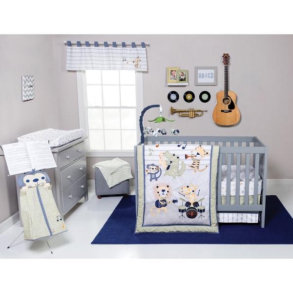 Trend Lab Safari Rock Band 6 Piece Crib Bedding Set Free