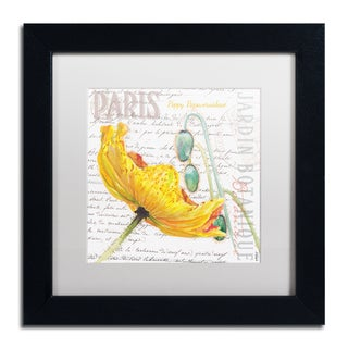 Jennifer Redstreake 'Paris Botanique Yellow Poppy' Matted Framed Art