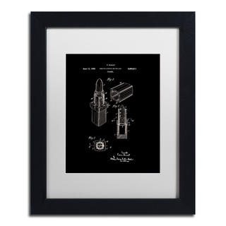 Claire Doherty 'Chanel Lipstick Case Patent White' Matted Framed Art