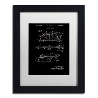 Claire Doherty 'Flying Car Patent 1941 Black' Matted Framed Art