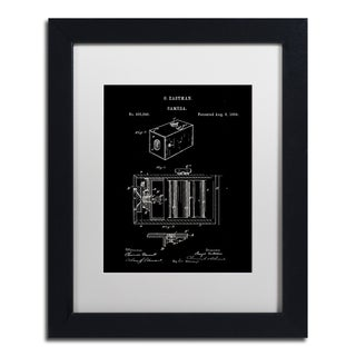 Claire Doherty 'George Eastman Camera Patent Black' Matted Framed Art