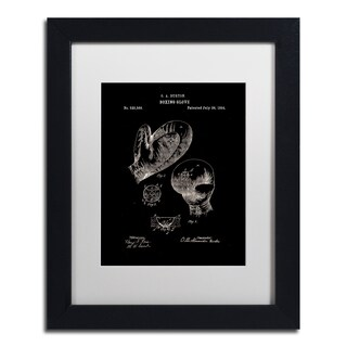 Claire Doherty 'Boxing Gloves Patent 1894 Black' Matted Framed Art