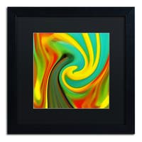 Amy Vangsgard 'Abstract Flower Unfurling Square 1' Matted Framed Art