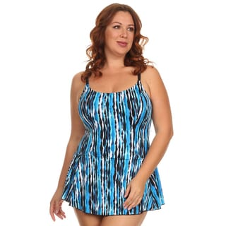 Dippin Daisy's Plus Size Blue River One Piece Swimdress