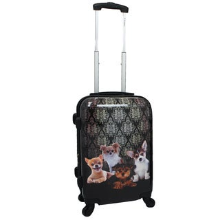 Chariot Doggies 20-inch Hardside Lightweight Upright Spinner Carry-On Suitcase