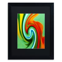 Amy Vangsgard 'Abstract Flower Unfurling Vertical 2' Matted Framed Art