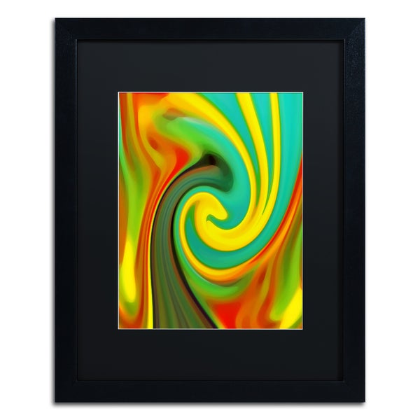 Amy Vangsgard 'Abstract Flower Unfurling Vertical 1' Matted Framed Art