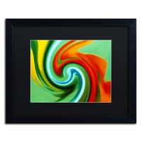 Amy Vangsgard 'Abstract Flower Unfurling 2' Matted Framed Art