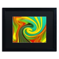 Amy Vangsgard 'Abstract Flower Unfurling 1' Matted Framed Art