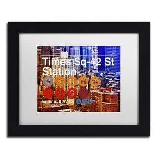 Philippe Hugonnard 'Subway City Art NYC IV' Matted Framed Art