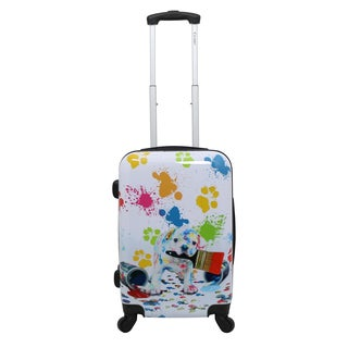 Chariot Paint Doggie 20-inch Hardside Lightweight Upright Spinner Carry-On Suitcase