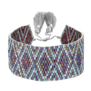 Multicolored Adjustable Beaded Cuff