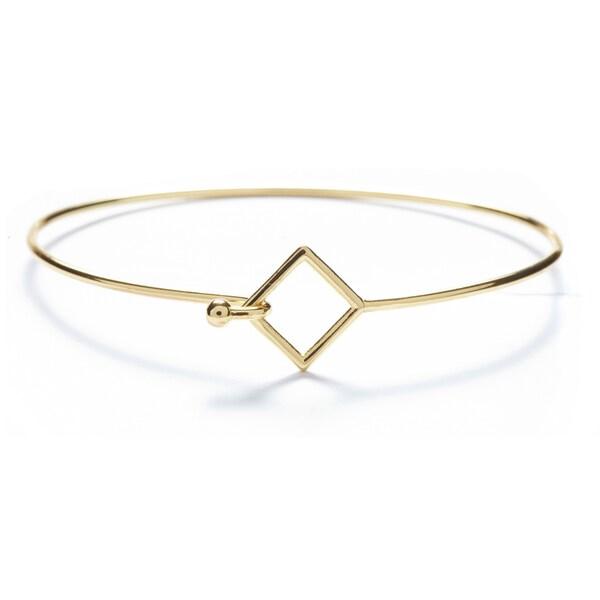 Shop Alchemy Jewelry Handmade Ethical Sacred Geometric Square Bangle