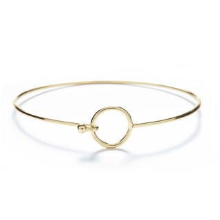 Alchemy Jewelry 18k Gold Overlay Circle Bangle