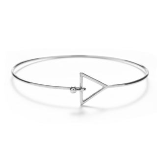 Silver Overlay Triangle Bangle
