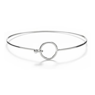 Alchemy Jewelry Handmade Ethical Sacred Geometric Circle Bangle with Sterling Silver Overlay and Fishhook Clasp