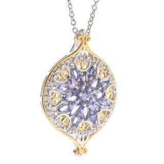 Michael Valitutti Tanzanite Cluster Pendant|https://ak1.ostkcdn.com/images/products/11536957/P18483644.jpg?impolicy=medium