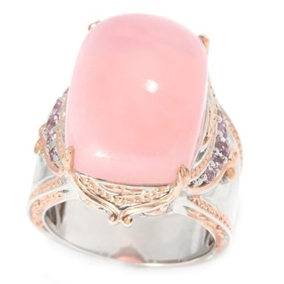 Michael Valitutti Pink Opal Ring