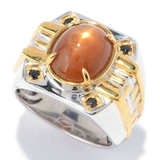 Michael Valitutti Sunstone Men's Ring|https://ak1.ostkcdn.com/images/products/11536979/P18483655.jpg?impolicy=medium